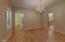 Dining area with Maple hardwood flooring