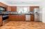 New cabinets, appliances, flooring