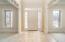 NOTE: Crown molding, transoms, tile floors - FORMAL LR on left, DR on right