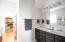 2 sink vanity - tile floors