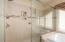 Also featuring this large walk-in shower