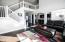 Great room to Kitchen and Entry - loft at top of stairs