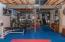 • Mat flooring • Wooden shelves • Sump pump • Ceiling light