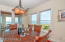 DINING ROOM WITH BUILT IN CABINETRY