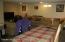 Basement family room area