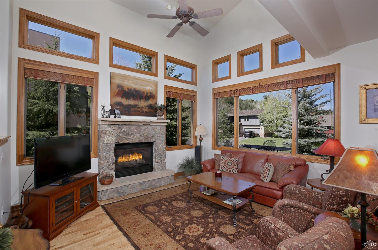 Steps from the Eagle River in a park-like setting, this home offers easy access to downtown Edwards and Arrowhead from a quiet cul-de-sac. The great room with oversized windows and fireplace overlooks the spacious deck and yard. Master suite privacy created with separate deck and double-sided fireplace warmly connecting the bedroom with its 5-piece bath. Large bedrooms including a 4th currently used as a main level office. Mud room, 2-car garage, dining room, vaulted ceilings and own driveway.