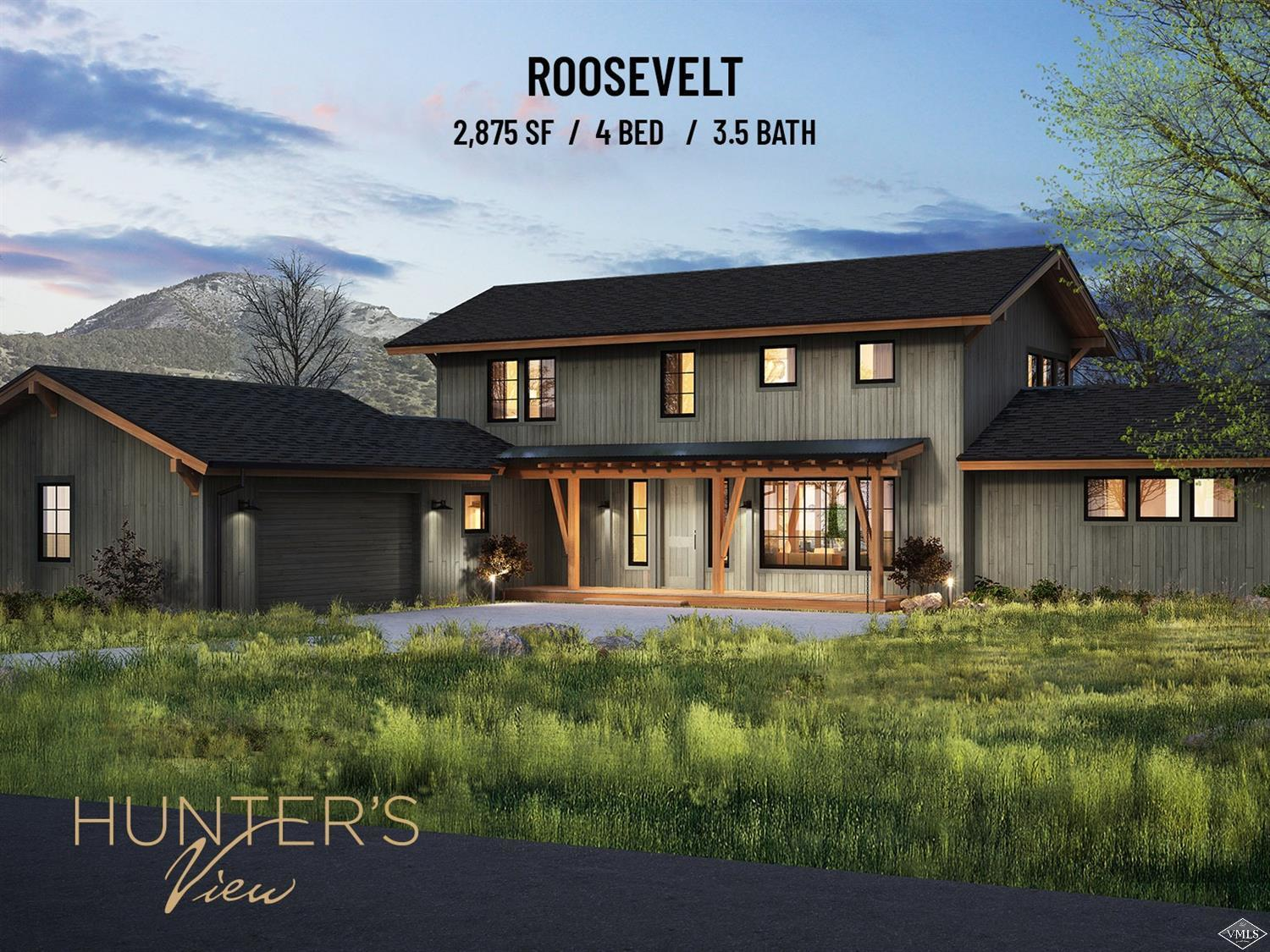 Starting Spring of 2020 - Roosevelt Model - Hunter's View Residences - Nestled on 81 acres, surrounded by pristine wilderness, Hunter's View is Frost Creek's newest real estate offering. Phase 1 (15 homes out of 44) are thoughtfully designed new construction homes, which is perfect combination of personalization and convenience. With 3 unique layouts and numerous additions to choose from, no two residences will be exactly the same.
