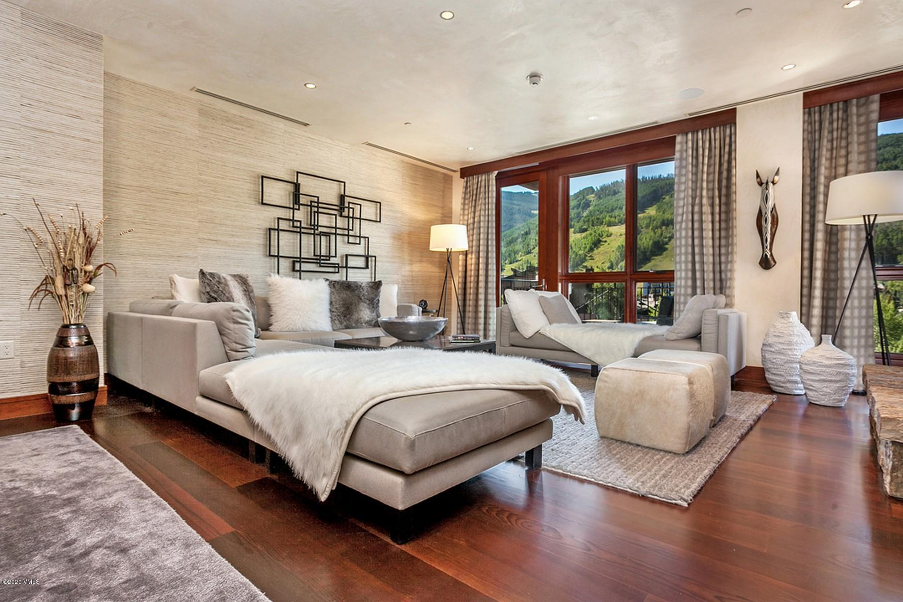 Enjoy direct Vail Mountain views from every room of this impeccably furnished private residence in the heart of Vail Village. The Solaris features world-class amenities including fine-dining at Matsuhisa, private indoor pool and fitness center, heated underground parking and on-site public skating rink. This residence is offered partially furnished and ready to enjoy.