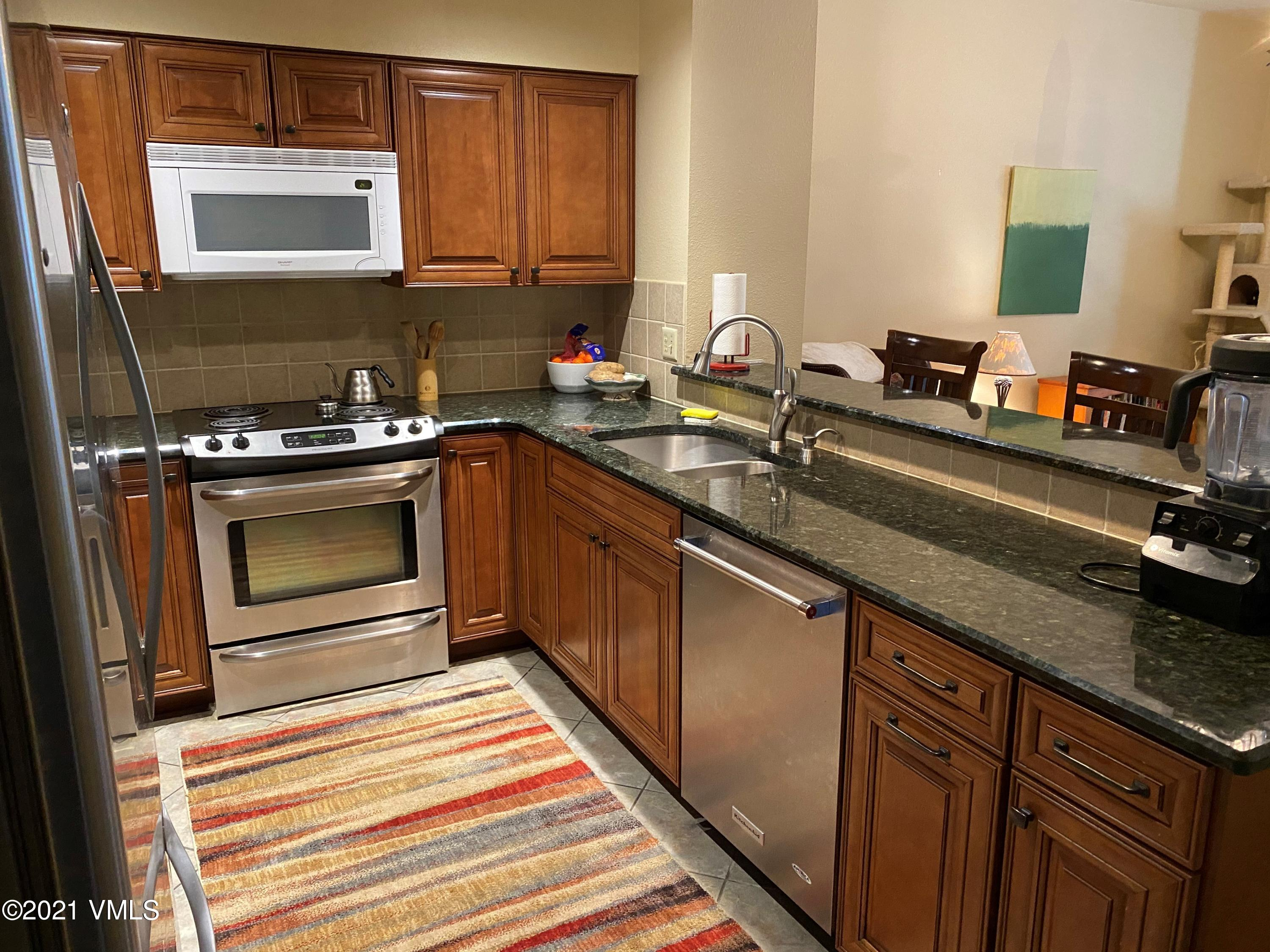 Listen to the sounds of the Creek from your Master bedroom and feel like you are in the forest whilst in the living area. Two bedroom plus Den - 2 Bath Condo, located in the heart of Eagle Vail. Covered parking, Pool and Hot tubs overlooking the River. Low HOA dues and great location, make this a perfect mountain getaway year round.