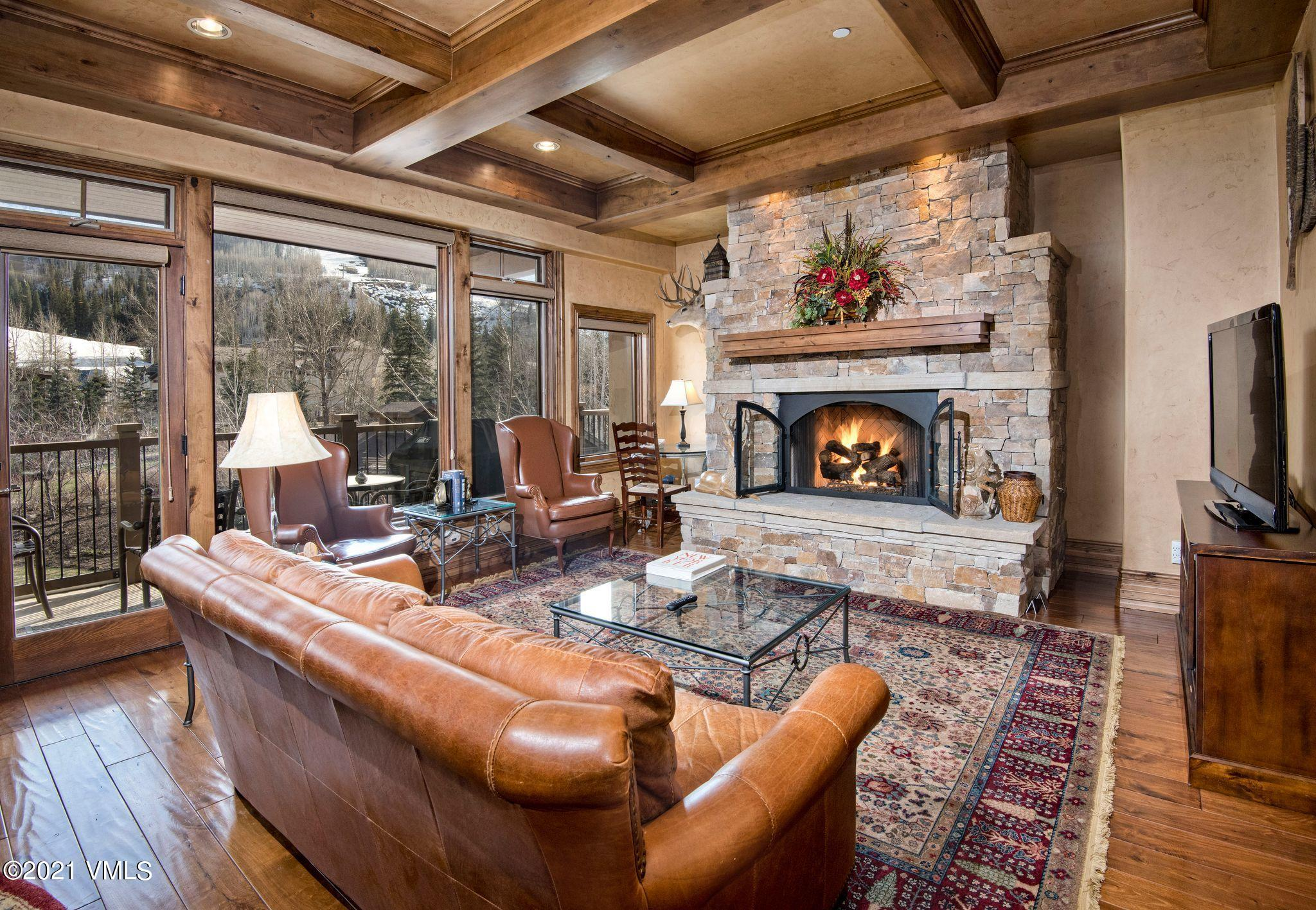 One of the 17 Penthouses built in 2008, this stunning residence will wow you the moment the elevator opens directly into the living room. Unobstructed views of Golden Peak ski mountain and sounds of Gore Creek from the bedrooms create a true mountain experience from every room. Designer furnished with high ceilings, air conditioning and comfortable floor plan. Included with the purchase is a deeded parking space with a private ski locker  steps from the residence. Everything is at your fingertips from the ski lift and Children's Ski School to dining and shopping in Vail Village. In the summer, enjoy concerts at Ford Amphitheater or take a stroll through Betty Ford Alpine Gardens, both a short walk away.  Manor Vail is an amenity-rich property offering 2 pools, 2 hot tubs, fitness room, spa and Fitz Restaurant & Bar. A desirable property for those who appreciate both convenience and privacy.There is no Right of First Refusal on the Penthouse units.