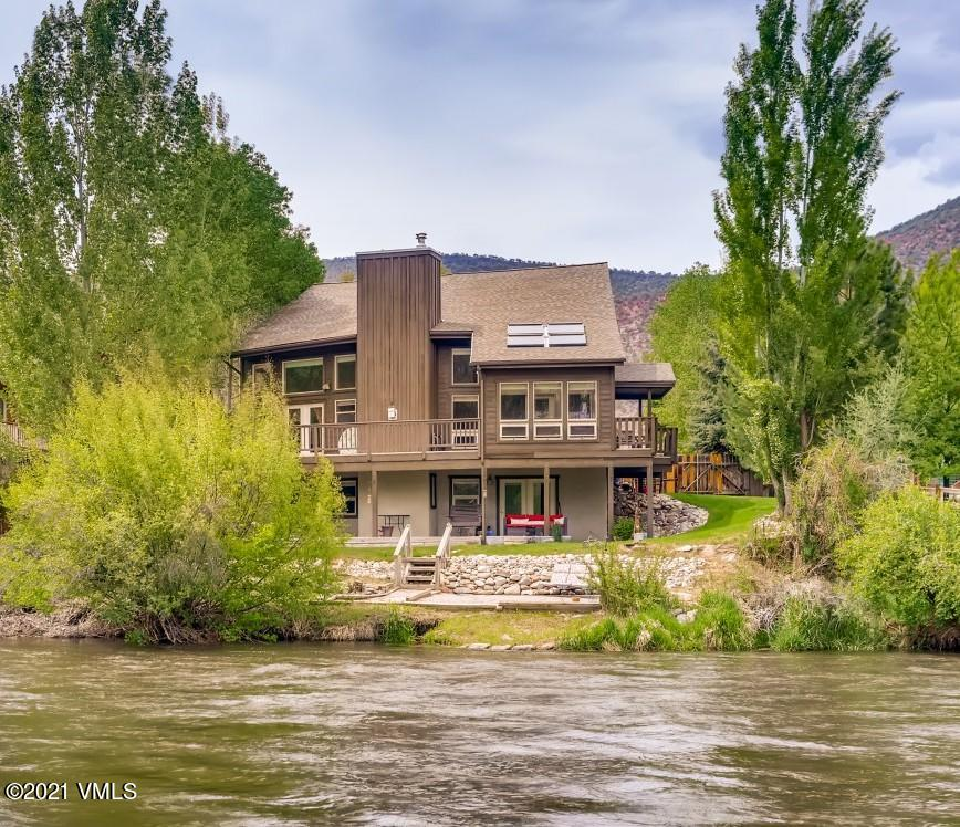 3400 sq.ft. Single Family on the Eagle River! Incredible setting and mountain views. The main floor features a large great room, with tons of natural light, vaulted ceilings and a floor to ceiling river rock fireplace, a sun- room and large deck overlooking the river, a bedroom and bath.  2 beds & bath on 2nd floor.  Lower level-1 bed-1bath, full kitchen with lock-off potential.  Lots of Recent upgrades! New Roof, New Water System, New LVT Flooring on lower level.  1st opportunity to see this incredible home is June 2, 2021 2:00-6:00 pm.  Offered at $835,000