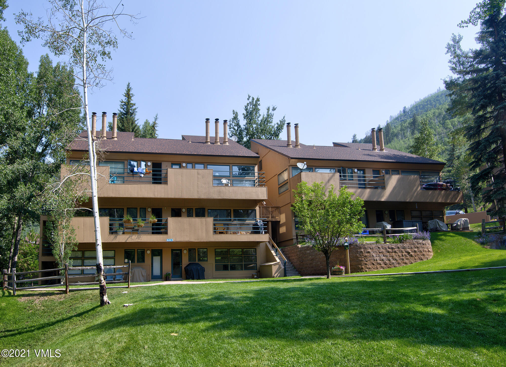 Unique 2 bedroom, 1.75 bath, 905 sq ft Pitkin unit with green space views from all windows, Newer blinds, new Washer/Dryer, Baths remodeled in 2020.  Quiet, south-facing living room.  Pool, hot tub , liquor and grocery store on premises.  On Town free bus route, 4 miles to Vail lifts.  Easy access to bike path and hiking trails.  Well run HOA with ongoing maintenance plan.  Kitchen needs updating as it has original cabinetry and counters.  HOA allows only one pet per owner.  Easy to rent out.  Great candidate for Vail Indeed program grant monies.  Seller is licensed broker in the state of Colorado.