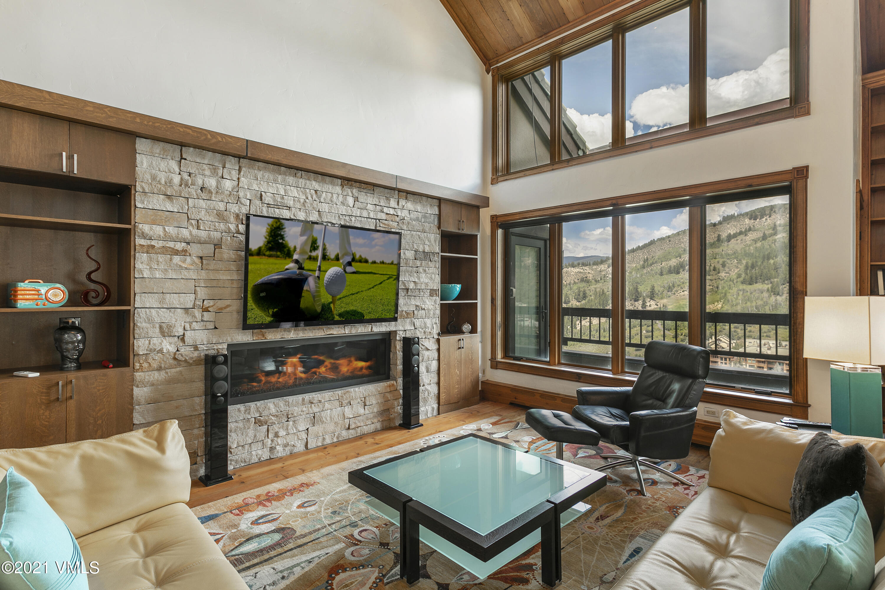 A unique opportunity to own a top-floor, five-bedroom condominium in Beaver Creek, with towering views over Beaver Creek Village to the ski slopes. Two condominiums in The Pines Lodge that are connected internally, creating spacious living with two living rooms, three bedroom suites, two kitchens, and two balconies.   Distinctive finishes include reclaimed hardwood floors, log accents, and wood ceilings create a traditional alpine look.  Only 12 condominium owners in The Pines Lodge, a Vail Resorts owned and operated hotel, with restricted access to the top floor for condominium owners.  The Pines Lodge enjoys premium ski-in/ ski-out access to Beaver Creek mountain and is home to one of Beaver Creek's best restaurants, The Grouse Mountain Grill.  Amenities include heated outdoor pool, gym, ski lockers, two assigned parking spaces, and front desk.  Offered fully-furnished, and air-conditioned.