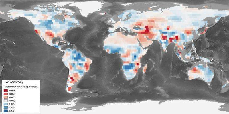 Parched Earth soaks up water, slowing sea level rise: study