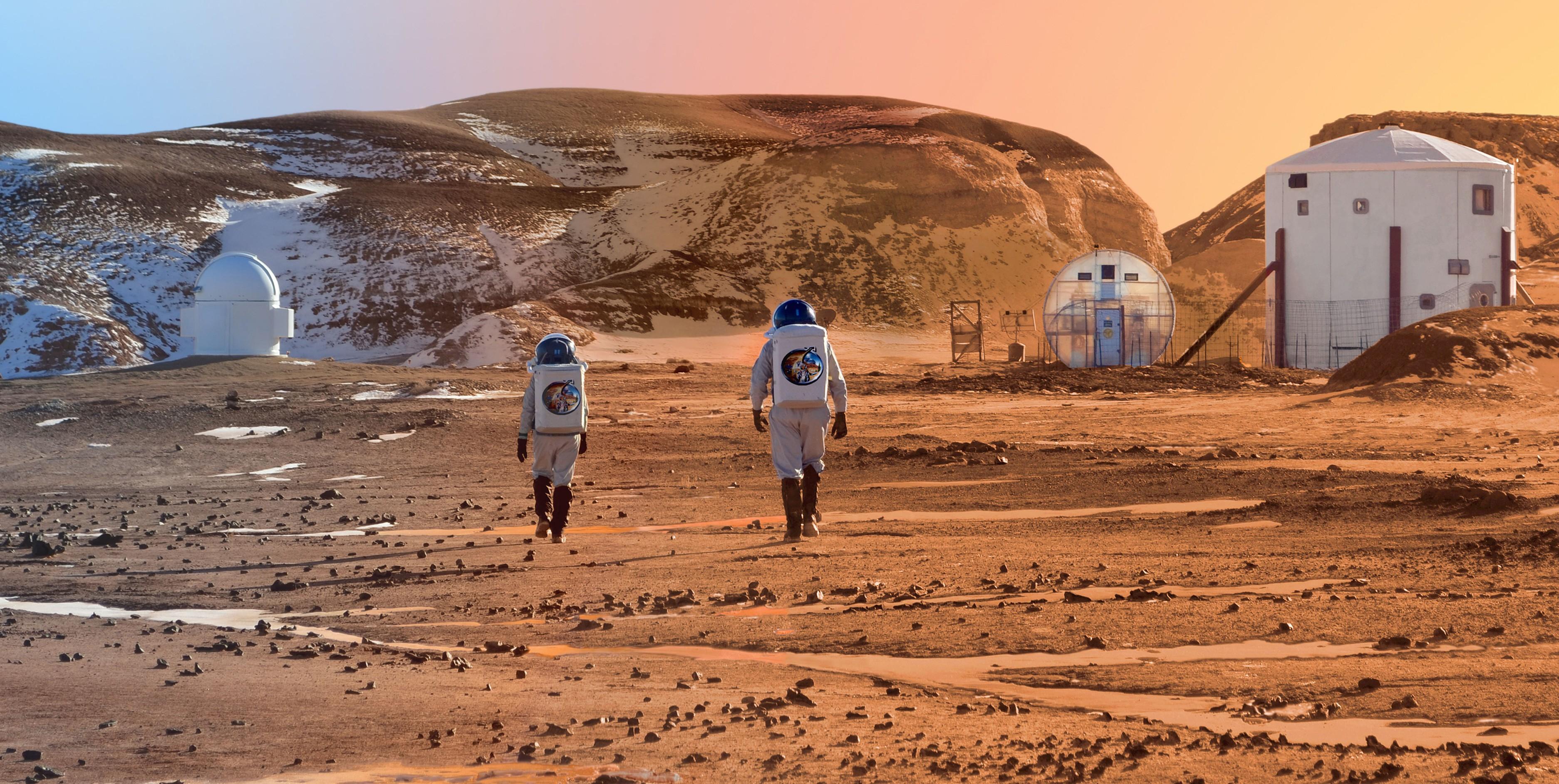 Vivir en Marte, colonización