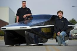 Purdue students build street-legal 2, 200 mpg solar powered car