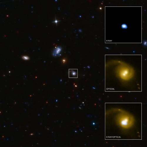 Giant buco nero cacciato dalla galassia