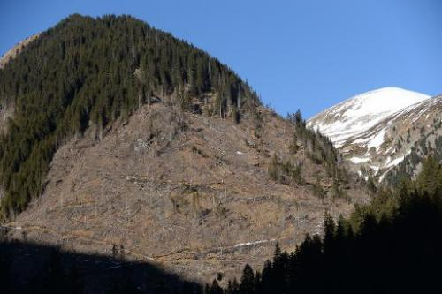 Ilegally deforested mountains in Pojarna Valley, in the heart of the Romanian Carpathians are pictured on January 16, 2014