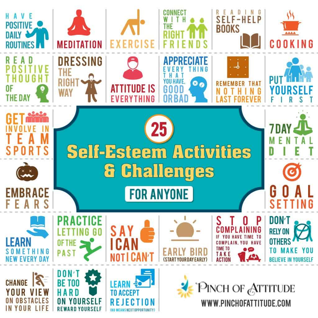25 Self Esteem Activities And Challenges For Anyone