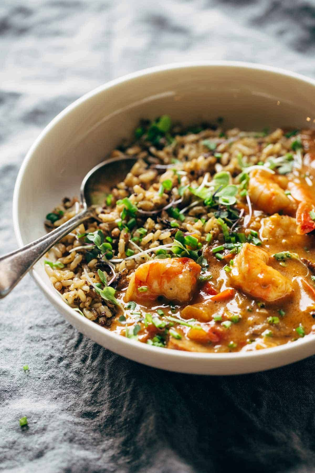 Spicy Weekend Gumbo | pinchofyum.com