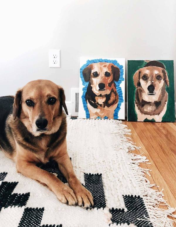 Paint Your Pet Night with Sage.