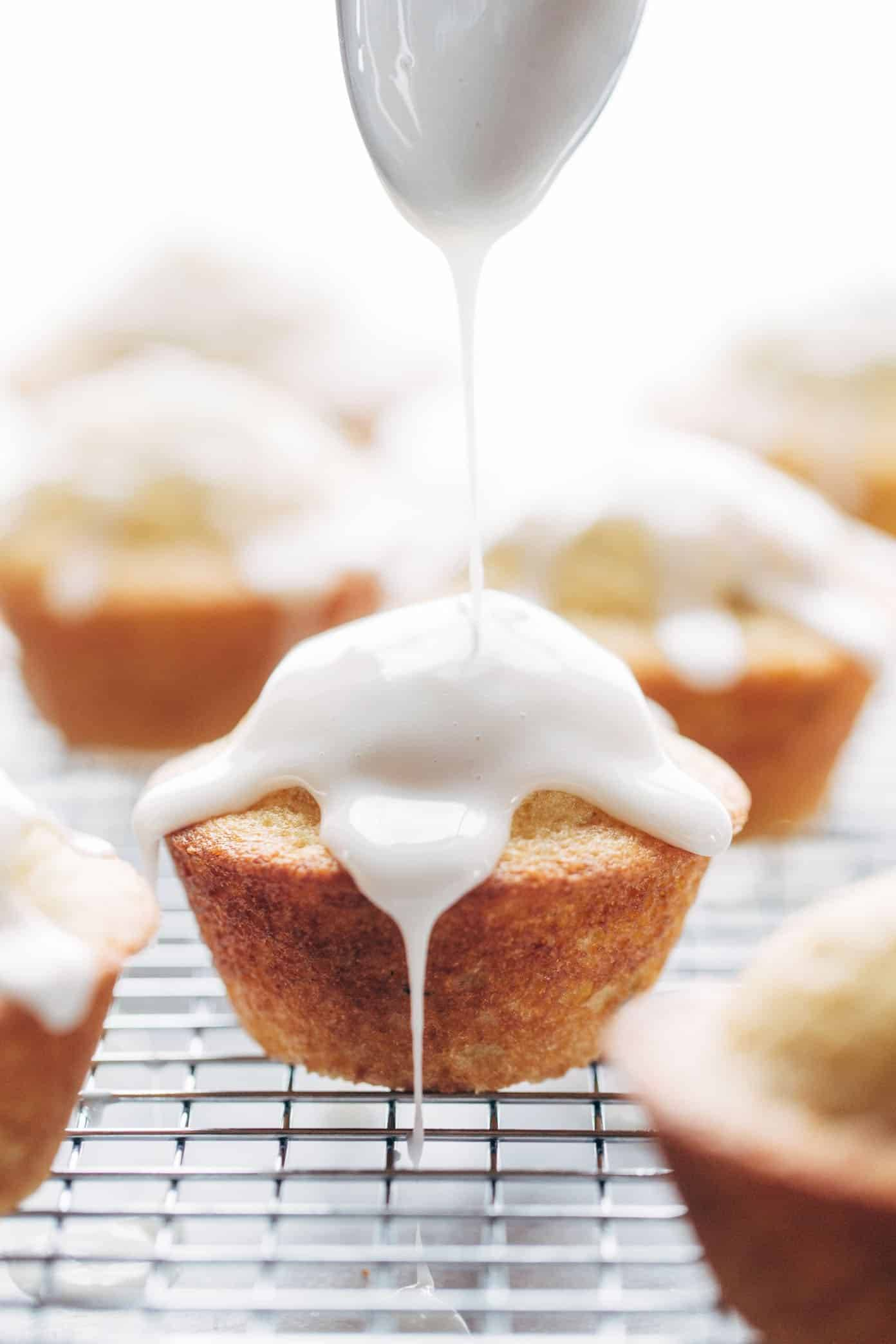 Lemon Lavender Muffins ♡ springy and light, muffin meets spa. perfect for Mother's Day brunch! | pinchofyum.com
