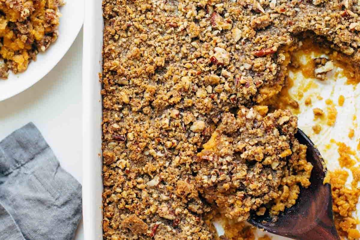 Sweet Potato Casserole | pinchofyum.com