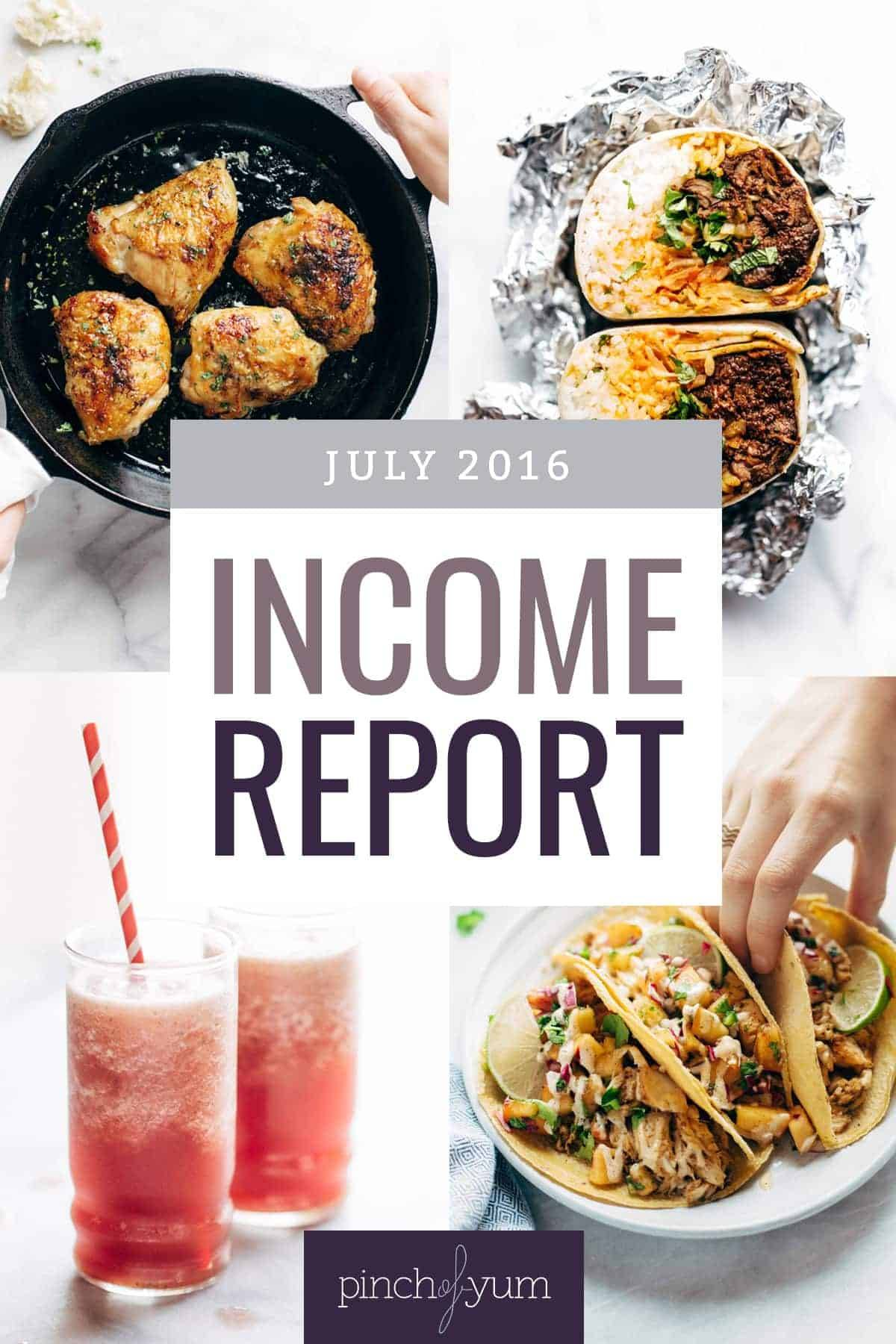 Traffic and Income Report July 2016