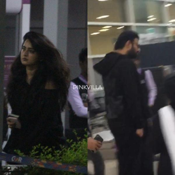 Anushka Shetty and Prabhas go the casual way as they jet off to London; See Pics & Video