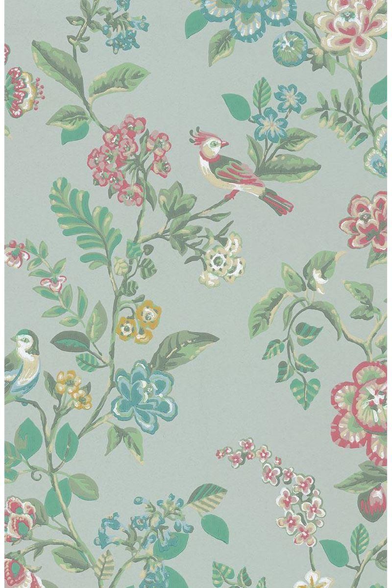Botanical Print Wallpaper Light Green Pip Studio The Official Website