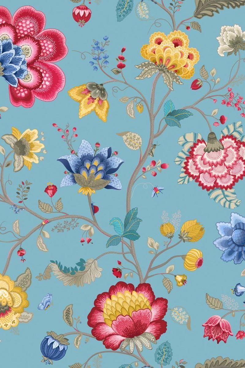Floral Fantasy Wallpaper Light Blue Pip Studio The Official Website