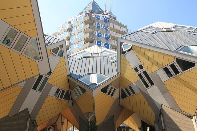 Free Photo Rotterdam Cube Houses On Stilts Free Image