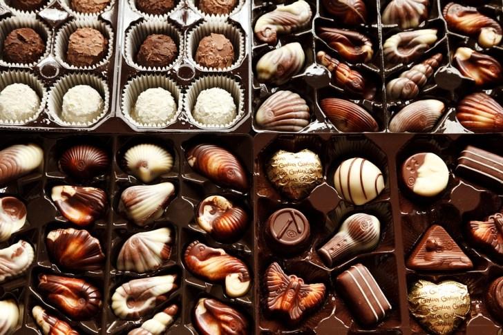 背景, ボックス, ブラウン, キャンディ, チョコレート, 菓子屋, デザート, 食品, グルメ, グループ