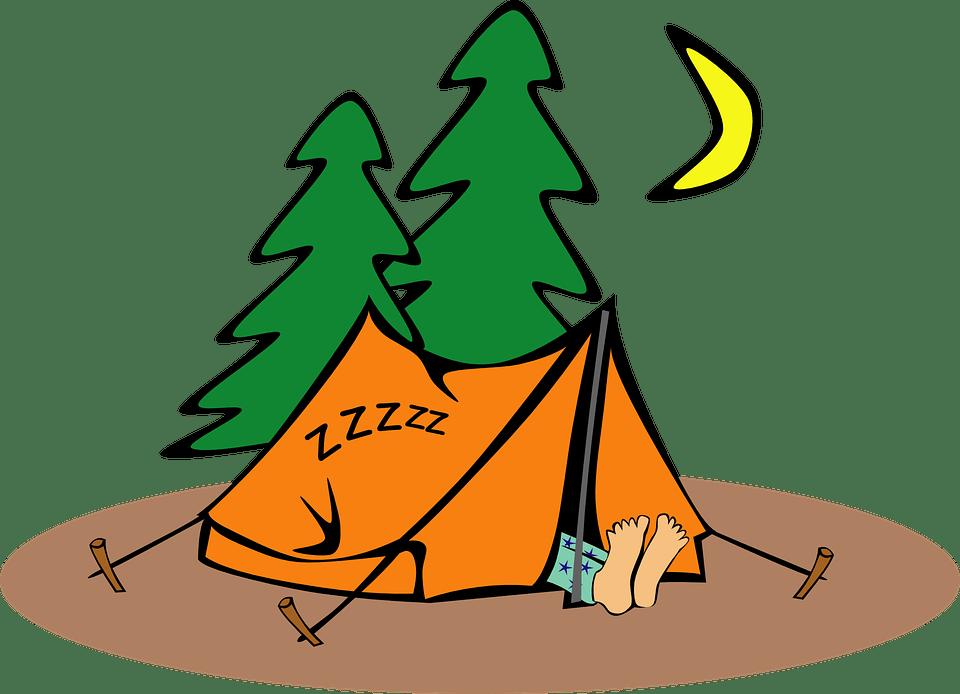 Camping, Humor, Tent, Humoristische, Slapen, Eenling