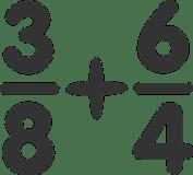 Addition Fractions Numerator Denominator P