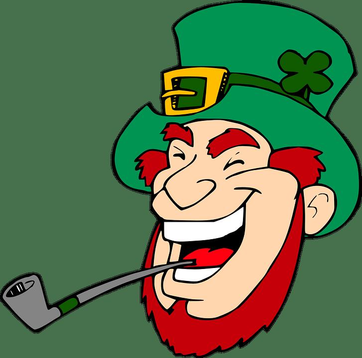 Stick Irish Folklore Free Vector St Patrick Day Clip Art Black