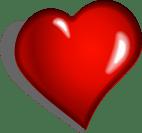 Coeur, Red, Émotionnel, Dessin Animé, Romance, L'Amour