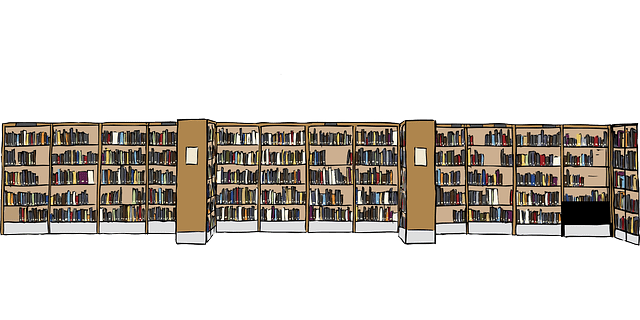 Free Vector Graphic Library Books Bookcases Free
