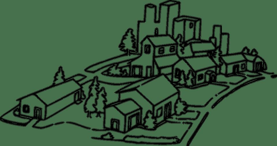 Kota Cityscape Rumah Gambar Vektor Gratis Di Pixabay