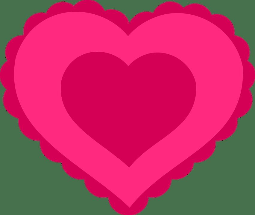 Coeur LAmour Rose Saint Images Vectorielles Gratuites