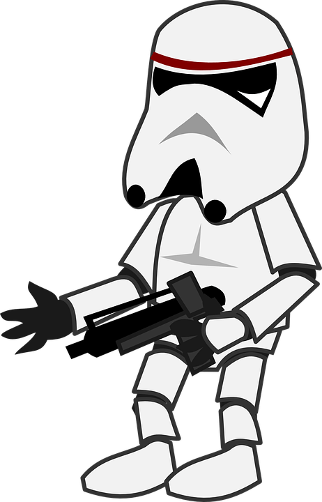 Star Wars Storm Trooper Character Free Vector Graphic On