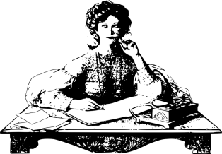 Woman, Thinking, Sitting, Desk, Writing, Write, Table