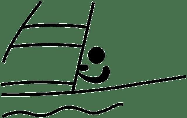 Kostenlose Vektorgrafik Segeln Sport Meer Piktogramm