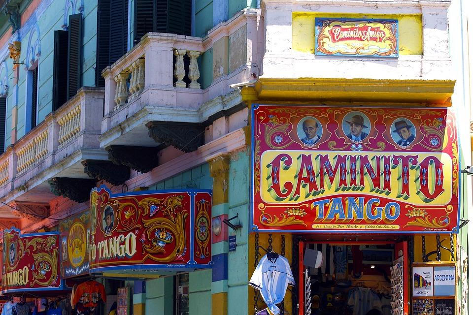 Caminito, Façade, Buenos Aires, Argentine, Coloré