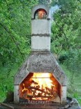 グリル, ストーン グリル, 木, 燃やす, 暖炉, 火, 煙, ホット, 熱