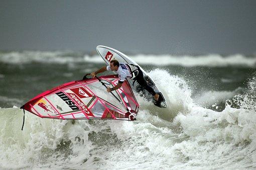Windsurfen, Surfen, Wellenreiten, Surfer