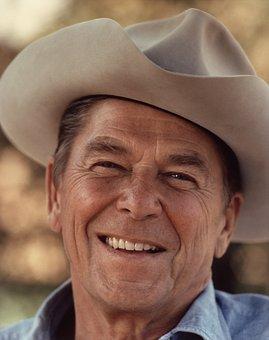Cowboy, Ronald Reagan, Cowboy Hat, Hat