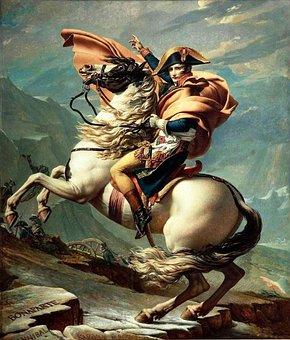 ナポレオン ・ ボナパルト, 天皇, フランス, ライター, 馬, 油絵, 攻撃