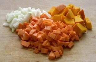 Ingrediënten, Pompoensoep, Fruit, Knippen, Gehackt