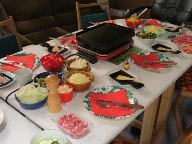 Raclette, Fest, Feiern, Essen, Abendessen, Party